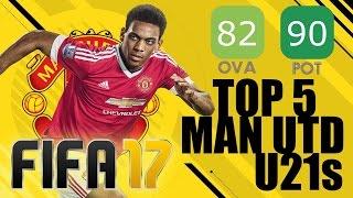 FIFA 17 Career Mode - Top 5 Highest Potential Man United U21s - Martial & Rashford! width=