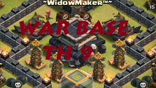 CLASH OF CLANS|#2 TH9 WAR BASE + 2 Replays