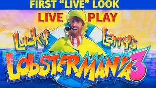 "getlinkyoutube.com-Lucky Larry's Lobstermania 3 - First ""LIVE"" Look - LIVE PLAY! + Bonus - Slot Machine Bonus"
