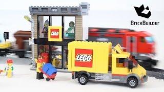 getlinkyoutube.com-Lego City 60097 City Square + 60098 Heavy-Haul Train Together!!!