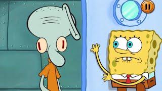 getlinkyoutube.com-SpongeBob's Game Frenzy: Clean The Glaffiti New Card - Nicklodeon Games
