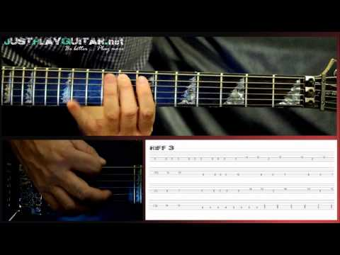 BULLET FOR MY VALENTINE - Tears don't fall - How to play part 2: Guitar lesson