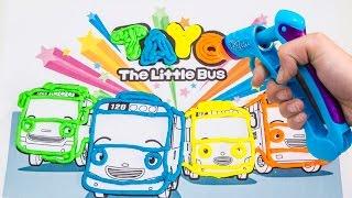 getlinkyoutube.com-Tayo the Little Bus Play Doh Vinci 타요 꼬마버스 타요 장난감 тайо маленький автобус Игрушки