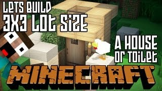 getlinkyoutube.com-Minecraft Lets Build HD: House or Outdoor Toilet 3x3 Lot