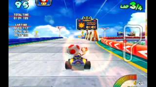 "getlinkyoutube.com-Mario Kart Arcade GP - Mario Beach Time Trial - 01'58""766"