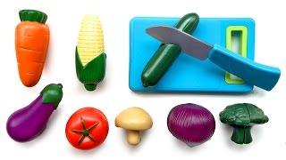 getlinkyoutube.com-Toy Cutting Vegetables Velcro Cooking Playset Kitchen Spielzeug Schneiden von Gemüse Klett Toy Food