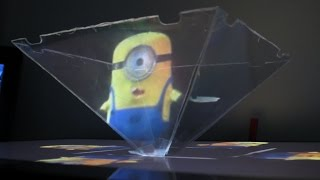 getlinkyoutube.com-How to use your Smartphone or Tablet to make a 3D hologram projector - Minion