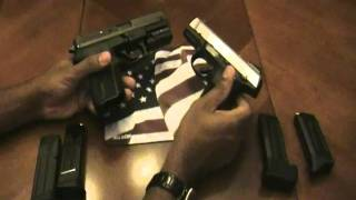 getlinkyoutube.com-Two great pistols if you're on a budget.  Ruger sr9c and the Sig Pro