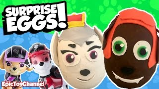 Paw Patrol Mission Paw SURPRISE EGGS Sweetie and Zuma with Lion Guard Surprises and Paw Patrol Toys