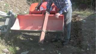 getlinkyoutube.com-Homemade trencher for tractor bucket on Kubota BX