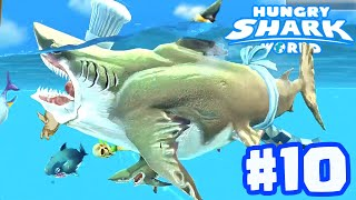 getlinkyoutube.com-MEGALODON STRONGEST PET TEAM EVER! - Hungry Shark World Part 10 (HSW) - NEW PETS!