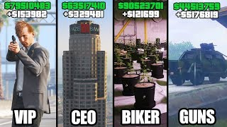 GTA 5 ONLINE - TOP 5 BEST BUSINESSES TO BUY & MAKE MONEY! (VIP, CEO, BIKERS & GUNRUNNING)