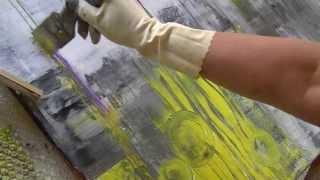 getlinkyoutube.com-Acrylmalerei abstract acrylic painting long version with taglines