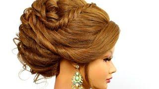 getlinkyoutube.com-Romantic hairstyle for medium long hair.