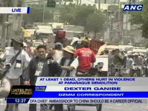 Dexter Ganibe talks to some protesters who were arrested in P'que demolition