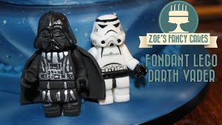 getlinkyoutube.com-Fondant lego Darth Vader birthday cake topper How To Cake Tutorial