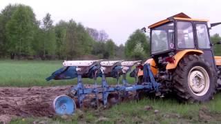 getlinkyoutube.com-Orka trawy, uprawa i siew łubinu czyli wiosna 2013 Ursus c-360 3p + AGRO MASZ, Lemken Opal 90