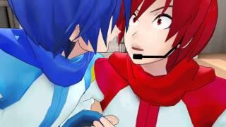 getlinkyoutube.com-Invisible Pocky (Akaito x Kaito)