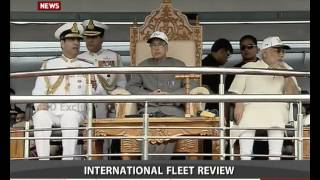 getlinkyoutube.com-President, PM inspect International Fleet Review in Visakhapatnam