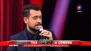 O Ses Türkiye 2013 'ABDULLAH- ZÜLÜF DÖKÜLMÜŞ YÜZE' 30 Aralık 2013