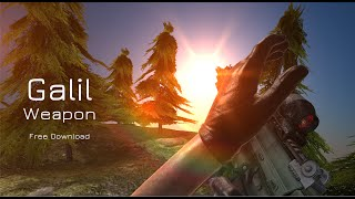 getlinkyoutube.com-[Unity 3D] Weapon Animated Free (Galil)