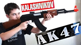 Kalashnikov AK-47 FPS-177 Electric Airsoft Assault Rifle with Robert-Andre!