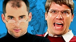 getlinkyoutube.com-Steve Jobs vs Bill Gates.  Epic Rap Battles of History Season 2.