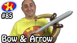 getlinkyoutube.com-Bow and Arrow  - Balloon Animal Lessons #85