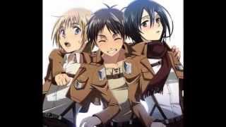 getlinkyoutube.com-Shingeki no Kyojin/Attack on Titan - Eren, Mikasa and Armin - You spin my head right round!