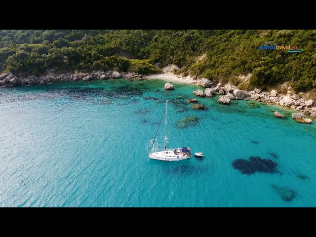 Saint Sostis Beach Parga drone flight