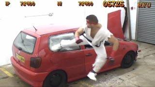 getlinkyoutube.com-REAL LIFE Street Fighter Car Bonus Stage