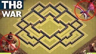 BEST TH8 WAR BASE [ANTI GOWIPE] - Town Hall 8 | ANTI DRAGON | ANTI HOG| Clash of clans