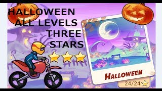 getlinkyoutube.com-Bike Race - Halloween - 3 Stars ★★★ - Levels 1-8 Normal Bike Walkthrough
