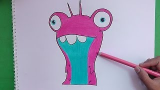 getlinkyoutube.com-Dibujando y pintando a Babosa Burbuja (Bajoterra) - Drawing and painting to slug Bubble