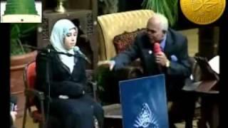 فتاة تقرأ القرآن بصوت ملائكي بجميع المقامات الصوتية .flv