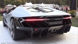 getlinkyoutube.com-$2.3m Lamborghini Centenario Roadster Sound! - Start Ups & Loading Into Truck