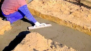 getlinkyoutube.com-Building a house step by step. Full HD. Step 1. Ground works, concrete sleepers.mp4