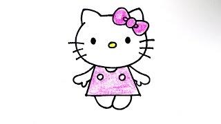 getlinkyoutube.com-How to draw Hello Kitty 헬로키티 그리기 cute kawaii かわいい 可愛 손그림 귀여운 예쁜 그림 그리는 방법 ハローキティ
