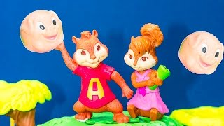 getlinkyoutube.com-ALVIN AND THE CHIPMUNKS Nickelodeon Alvin + Chipettes King of the Tree House Toys Video