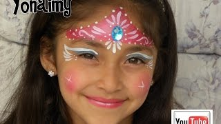 getlinkyoutube.com-PRINCESA CON CORONA ( PINTACARITAS). FACEPAINTING PRINCESS .