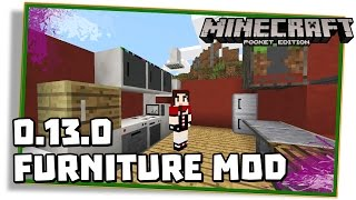 getlinkyoutube.com-Minecraft PE 0.13.0: FURNITURE MOD | POCKET DECORATION PARA SUA CASA! -  (Pocket Edition | MCPE)
