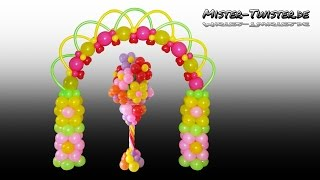 getlinkyoutube.com-Balloon Flower Arch, Birthday, Decoration, Ballon Blume, Blumenbogen, Ballonbogen, Dekoration