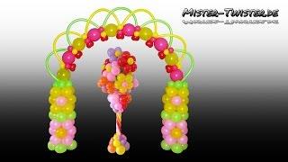 Balloon Flower Arch, Birthday, Decoration, Ballon Blume, Blumenbogen, Ballonbogen, Dekoration