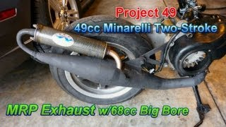 getlinkyoutube.com-Project 49 - MRP Tuned Pipe On 68cc Big Bore Two-Stroke Chinese Scooter