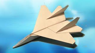 САМОЛЕТ F-15 (Strike Eagle). Оригами Своими Руками из Бумаги для Начинающих. Видео