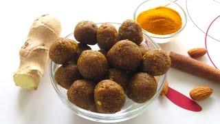 getlinkyoutube.com-DIY Homemade Anti-Inflammatory Immune Boosting Balls | Bhavna's Kitchen
