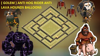 getlinkyoutube.com-Town hall 9 (th9) Best war base 2015 + defense 2 replay ANTI GoWipe, ANTI Lava hounds& Blloons