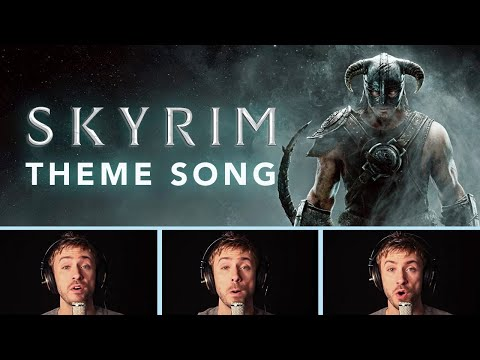 Skyrim Theme Lyrics Video - A cappella - Peter Hollens