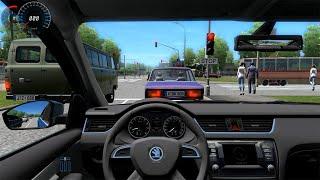 getlinkyoutube.com-City Car Driving - Skoda Octavia A7 + (Download Link)!