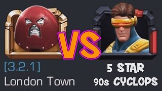 getlinkyoutube.com-MARVEL: Contest of Champions (iOS/Android) LONDON TOWN vs 5 STAR 90s CYCLOPS